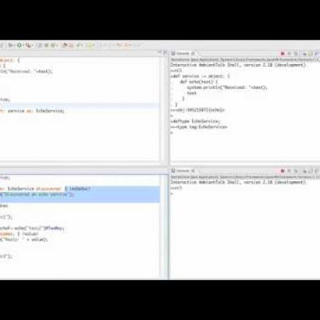 AmbientTalk Screencast: a simple echo service